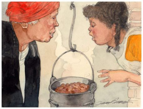 The Pot was Filled with Thick Stew ~ Jerry Pinkney