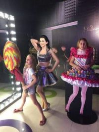 Silly granddaughters at Madame Tussauds