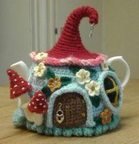 Fairy house tea cosy