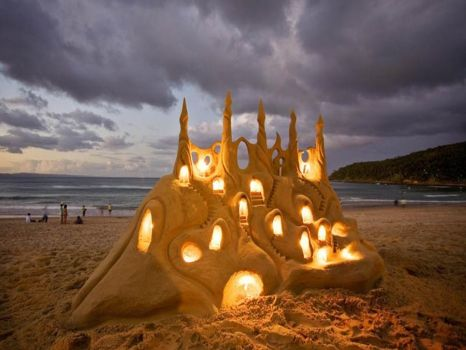 Sand castle, Queensland, OZ