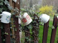 Mugs on the fence