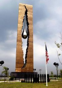 monument in honor of 9-11 in bayonne nj crafted by russia