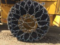 equipment tire chained up