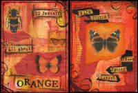 Orange Double Page