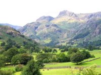 The Langdale Pikes in Great Langdale, English Lake District