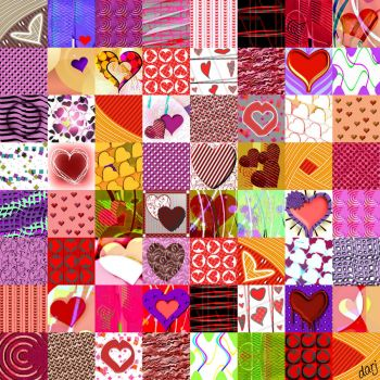 Potpourri 128 - Hearts for a Special Day - Large - darj