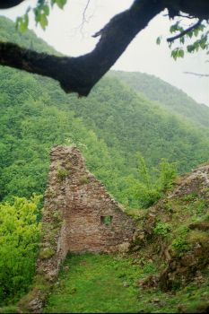 Ruins of medieval royal castle of Bobovac, Bosnia