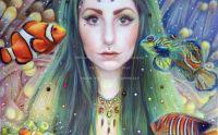 mermaid underwater girl