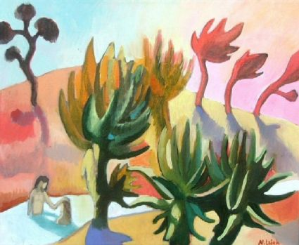 Nicky Leigh, South African, Baptism amongst the Aloes