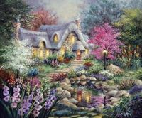 Pretty cottage and lots of beautiful flowers....