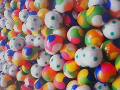 colored balls from a ball machine!!!