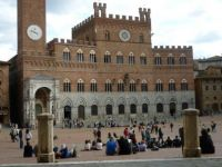 The square at Siena, Italy where they have the Palio horse race