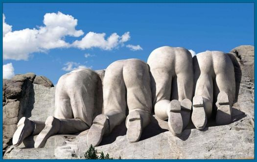 Backside of Mount Rushmore