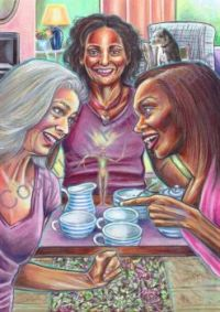 Poppy Palin Art - 'All Girls Together'