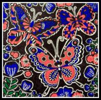 Art - Colouring - Nature / Insects - Butterflies - Blue & Red (Very Large)