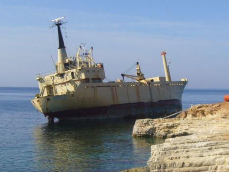 Ship that ran aground just past Coral Bay Cyprus