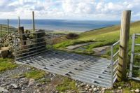 Cattle Grid, above Llwyngwril, Mid-Wales.