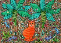 Orange Cat by Amanda White
