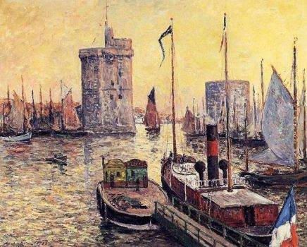 Port of La Rochelle at Twilight by Maxime Maufra