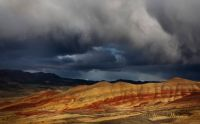 Rain Clouds over John Day Monument, OR