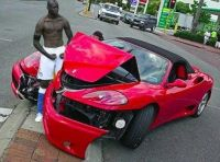 Mario Ballotelli smashing a car