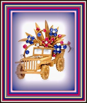 THEME - Automobiles - A beautiful JEEP brooch brought to you by Rocks to Riches