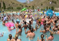Crowded Summer Camp Pool