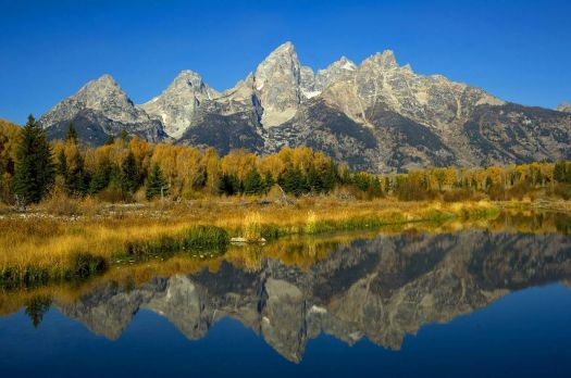 Autumn colors of the Tetons in WY - photog unknown