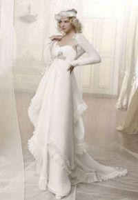 retro wedding gown