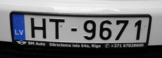Latvian number plate
