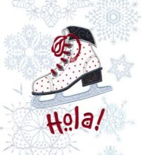 Snowflakes and Ice Skate
