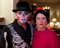 """Frida Kahlo and Skull Face"""
