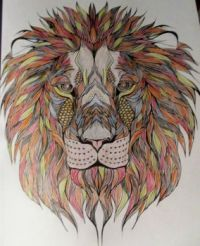 Lion - coloring book
