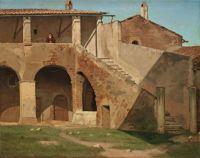 Martinus Rørbye (Danish, 1803–1848), A Capuchin Monastery in Rome (1835)