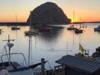 the rock -  sunset  - Morro Bay