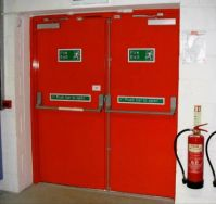THEME:   Red . . . Fire Escape Doors