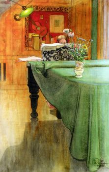 Brita At The  Piano, Carl Larsson