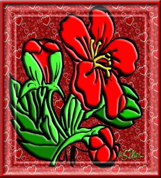 Leftover Theme..... Red Flower.....