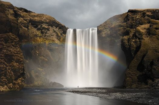 The Magnificent Waterfall Skógafoss, Iceland by Marsel van Oosten