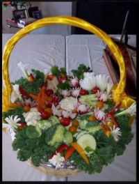 Pretty Veggie Basket
