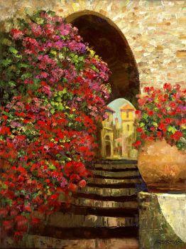 Flores en la Escalinata