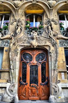 Art Nouveau Doorway, Paris