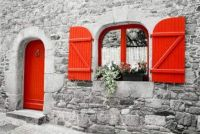 The Red Door and Shutters