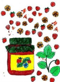 Coloring Strawberry Jam