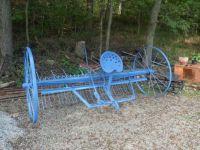 Old blue rake