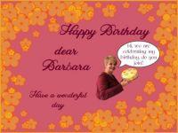 Happy Birthday dear Barbara (Barbara38)