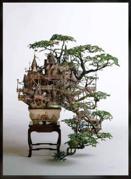 Solve New World Of Miniature With A Bonsai Jigsaw Puzzle Online With 88 Pieces