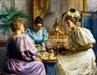 David Comba Adamson (1859-1926) - Five O'clock Tea
