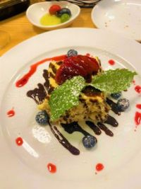"""""""Chef at my old job sent out a complimentary dessert for me - a superb tiramisu!"""""""