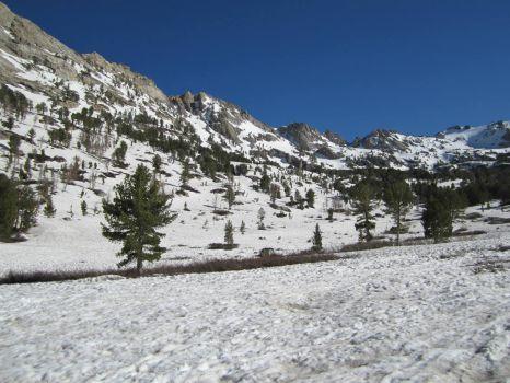 Ruby Crest Trail Trailhead in July